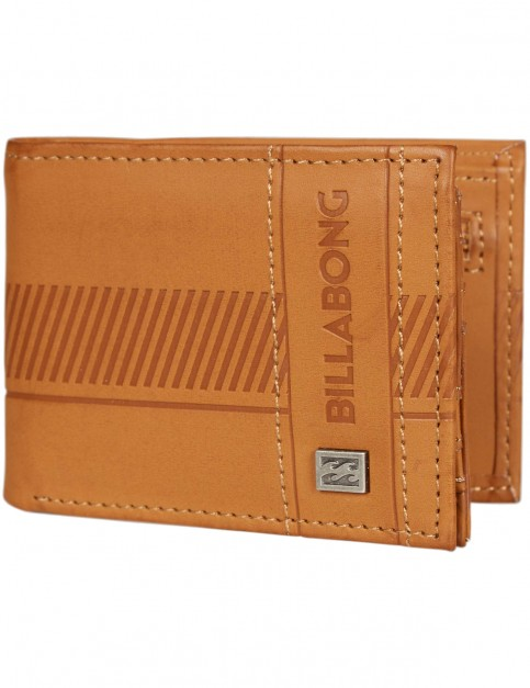 Billabong Vacant Faux Leather Wallet in Tan