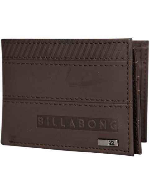 Chocolate Billabong Vacant Faux Leather Wallet