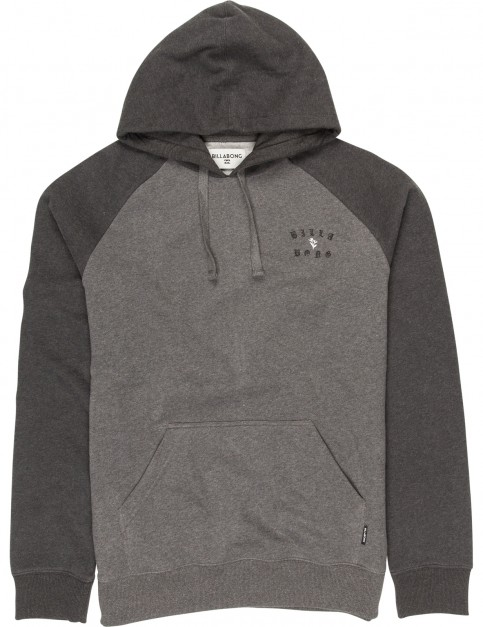 Billabong Vagabond Pullover Hoody in Dark Grey Heather