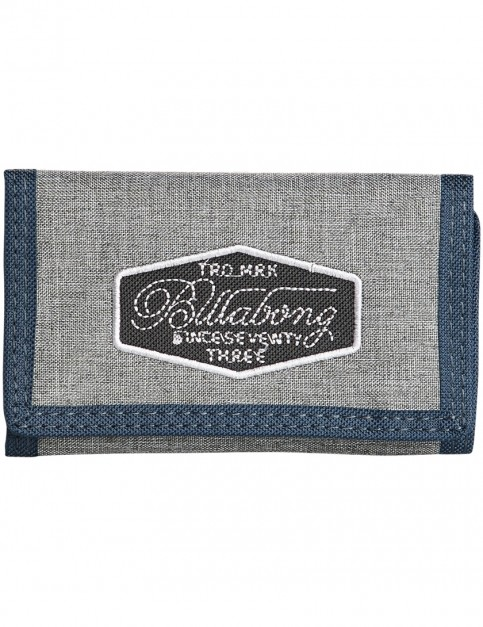 030181b5459c Billabong Walled 600D Polyester Wallet in Grey Heather