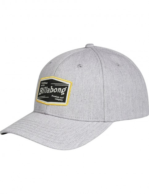 Billabong Walled Snapback Cap in Grey Heather