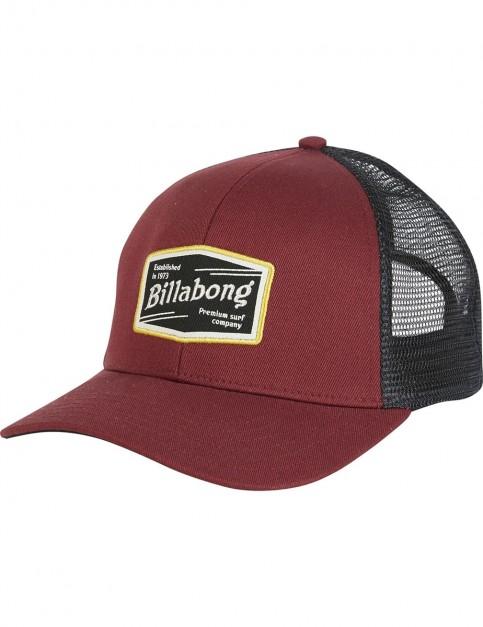 Billabong Walled Trucker Cap in Brick