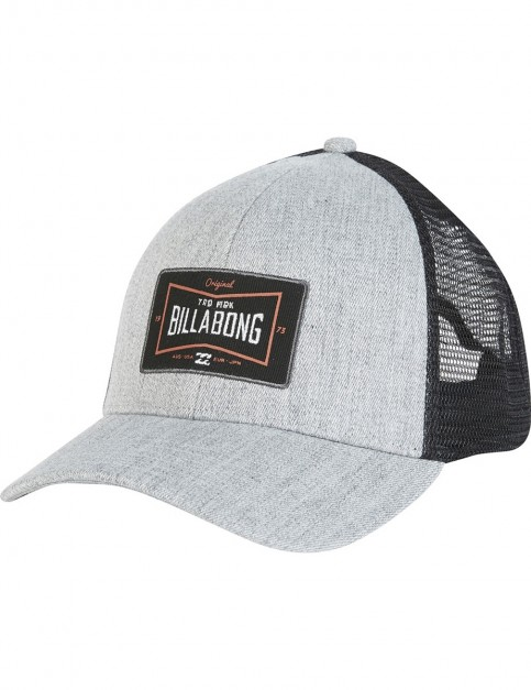 Billabong Walled Trucker Cap in Grey Heather