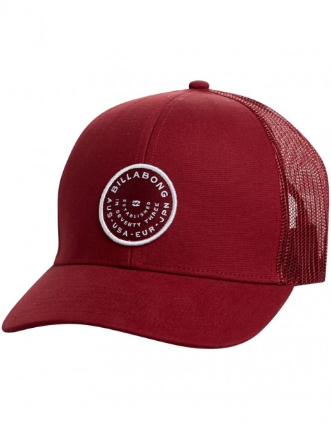 Billabong Walled Trucker Cap in Maroon
