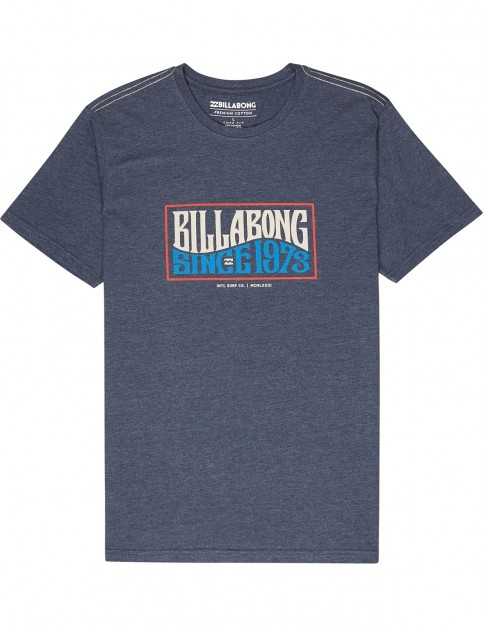 Billabong Wave Daze Short Sleeve T-Shirt in Navy
