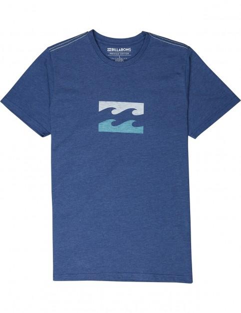 Billabong Wave Short Sleeve T-Shirt in Navy