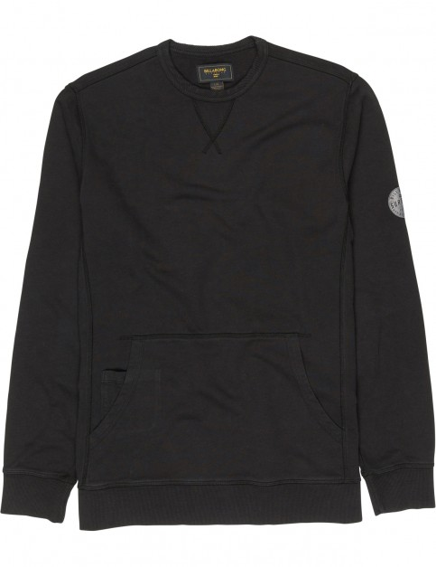 Billabong Wave Washed Crew Sweatshirt in Black