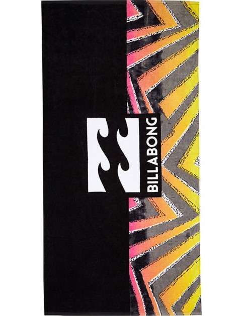 Billabong Waves Beach Towel in Black