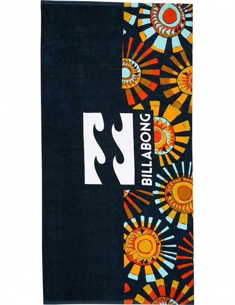 Billabong Waves Beach Towel in Navy/Orange