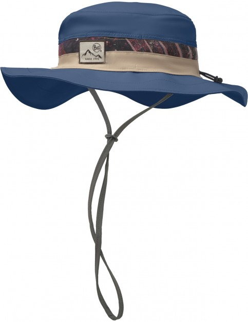 Buff Booney Sun Hat in Collage Navy
