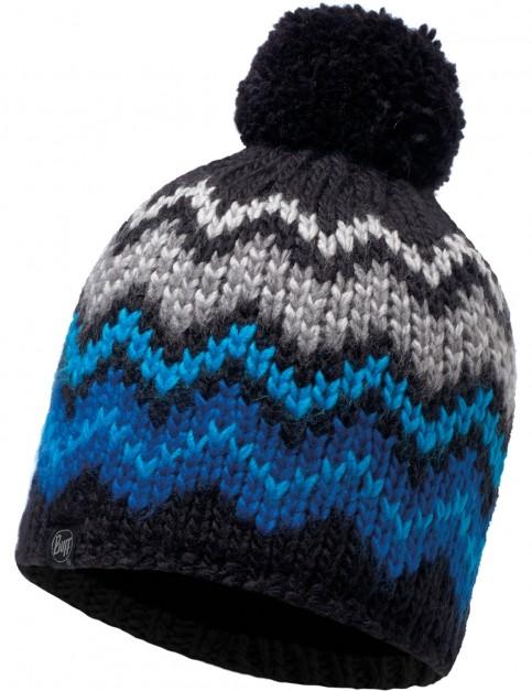 Buff Danke Knitted Bobble Hat in Black
