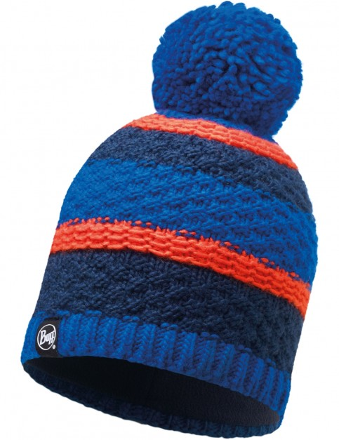 Buff Fizz Knitted Bobble Hat in Blue Skydiver