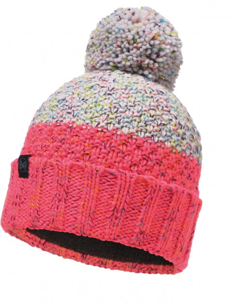 Buff Janna Knitted Bobble Hat in Cloud