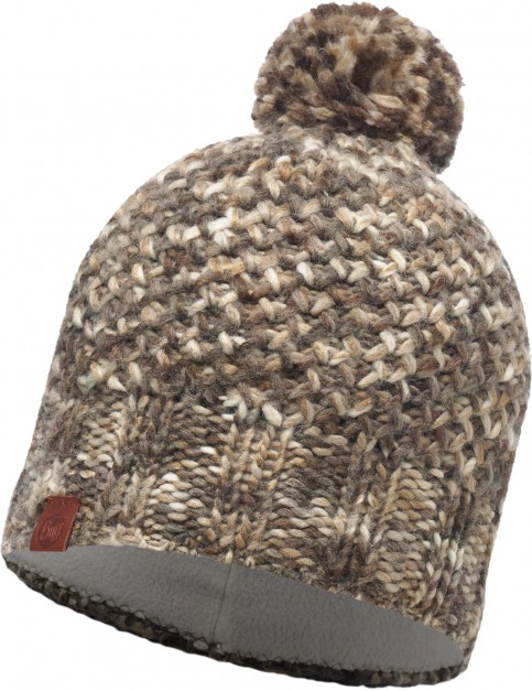 Buff Margo Bobble Hat in Brown Taupe/Grey