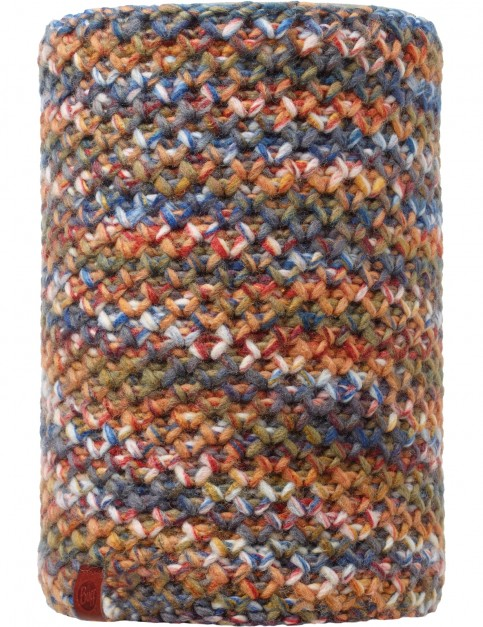 Buff Margo Knitted and Polar Neck Warmer in Orange/Grey Vigore