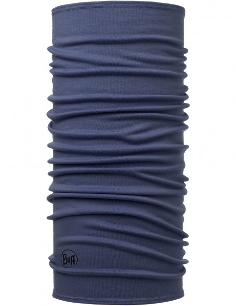 Buff Midweight Estate Wool Buff Neck Warmer in Estate Blue