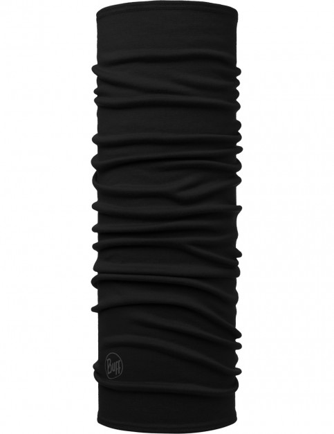 Buff Midweight Mid Wool Buff Neck Warmer in Black