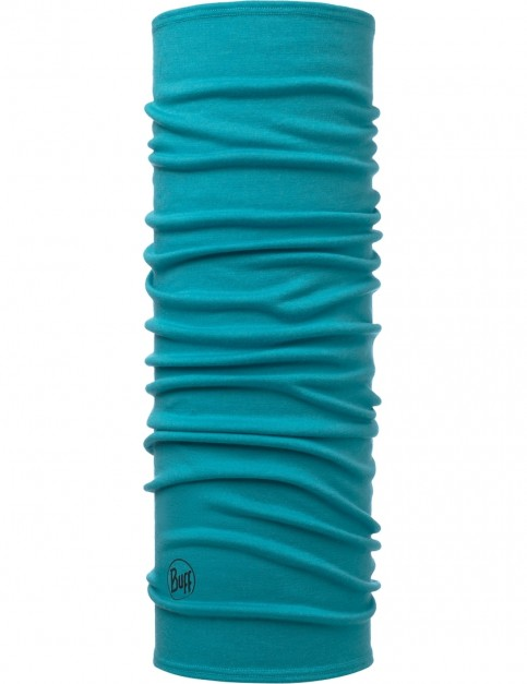 Buff Midweight Mid Wool Buff Neck Warmer in Turquoise