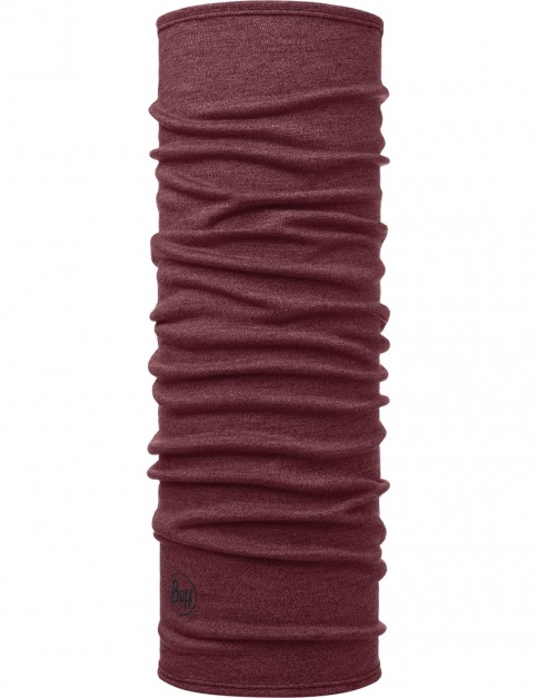 Buff Midweight Mid Wool Buff Neck Warmer in Wine Melange
