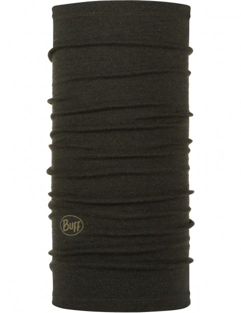 Buff Midweight Wool Neck Warmer in Forest Night Melange