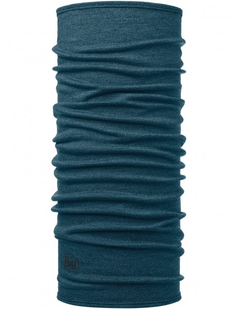 Buff Midweight Wool Neck Warmer in Midweight Ocean Melange