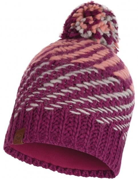 Buff Nella Knitted Bobble Hat in Purple Raspberry