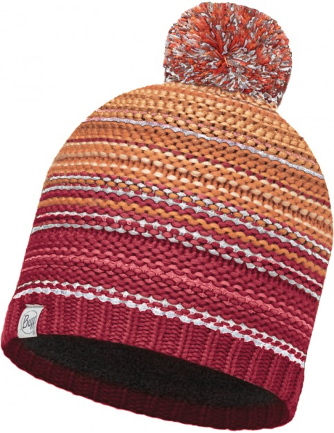 Buff Neper Beanie in Red Samba