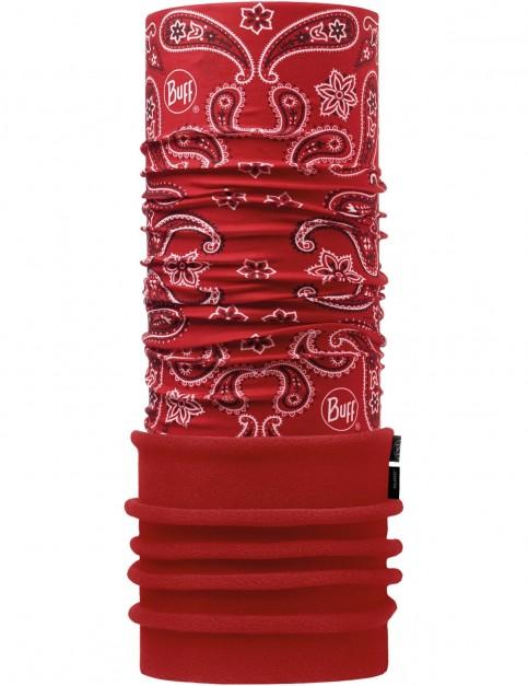 Buff New Polar Neck Warmer in Cashmere Red/Samba