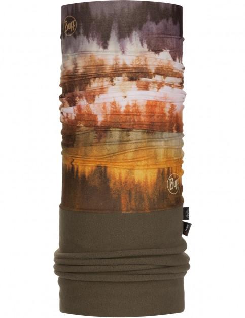 Buff New Polar Neck Warmer in Misty Woods Brown/Khaki