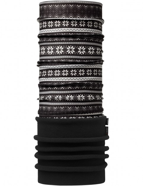 Buff New Polar Neck Warmer in Snowflakes Multi/Black