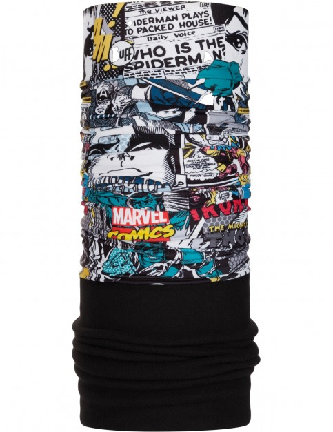 Buff New Polar Neck Warmer in Superheroes Comic Pop Power/Black