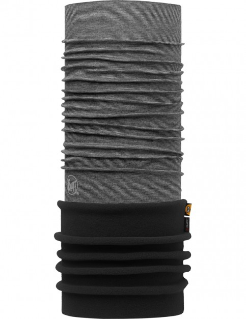 Buff Polar Buff Neck Warmer in Yarn Dyed Stripes Grey/Black