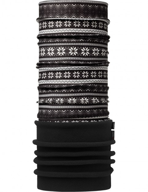 Buff Snowflakes Polar Buff Neck Warmer in Black