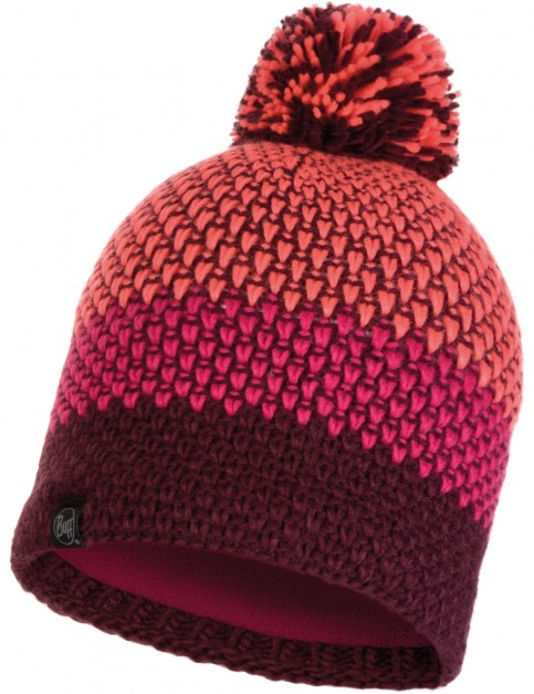 Buff Tilda Knitted Bobble Hat in Bright Pink