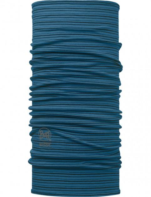 Buff Wool Buff Neck Warmer in Yarn Dyed Stripes Seaport Blue