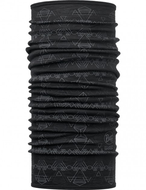 Buff Wool Buff Neck Warmer in Dagger Black