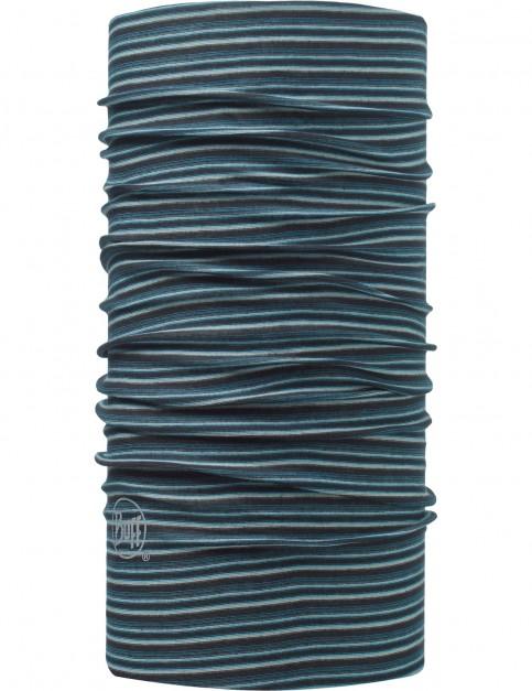 Buff Yarn Dyed Stripes Bolmen Neck Warmer in Blue