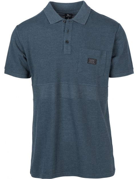 Rip Curl Captain Polo Shirt in Midnight Navy Marle