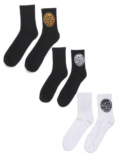 Rip Curl Wetties 3 Pack Crew Socks in Multico
