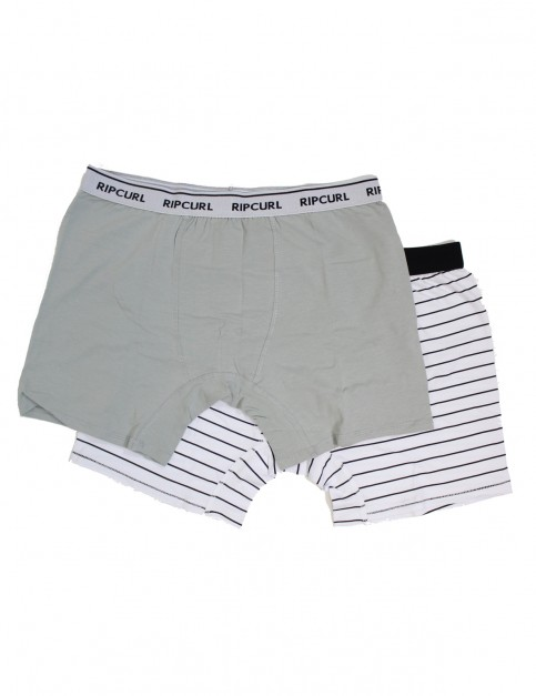 Rip Curl Solid & Arty Boxer Underwear in Optical White