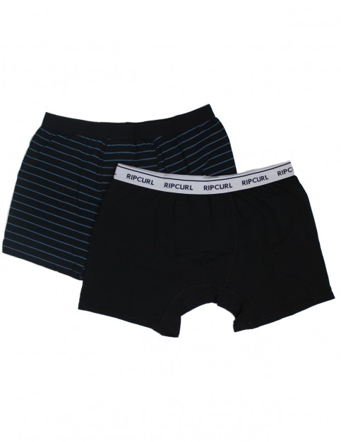 Rip Curl Solid & Arty Boxer Underwear in Black