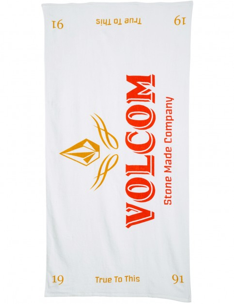Volcom V Beach Towel in White