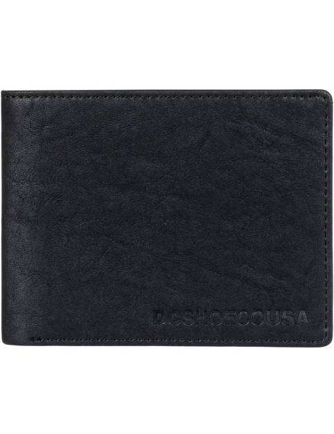 DC Big Message Wllt Faux Leather Wallet in Black