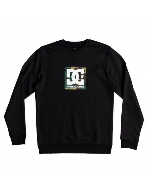 DC Camo Boxing Crew Sweatshirt in Black