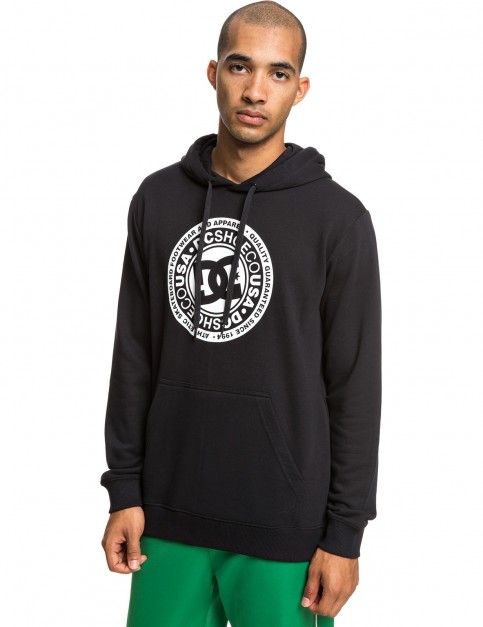 DC Circle Star Pullover Hoody in Black