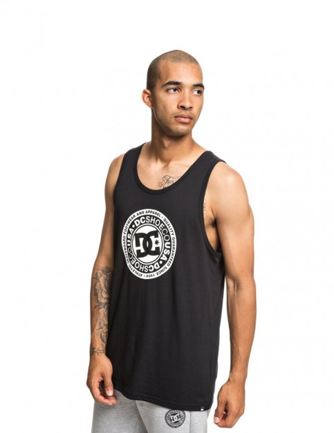 DC Circle Star Tank Sleeveless T-Shirt in Black