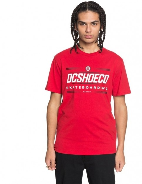 DC Four Base Short Sleeve T-Shirt in Tango Red
