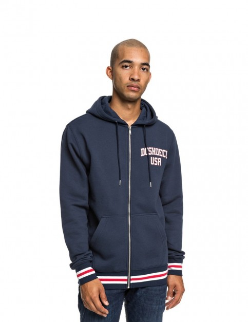 DC Glenridge 2 Zipped Hoody in Black Iris