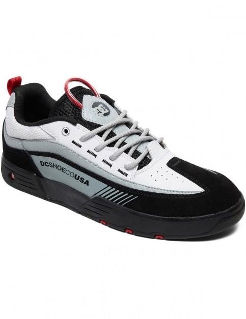 DC Legacy 98 Slim Trainers in Black/White/Red