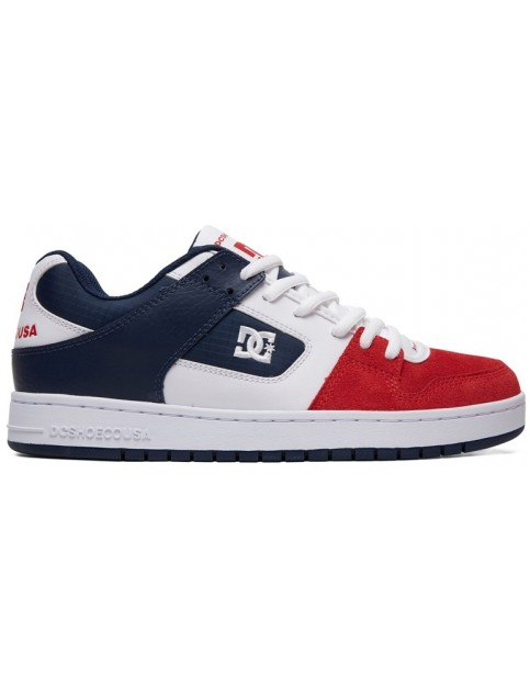 DC Manteca Trainers in White/Navy/Red